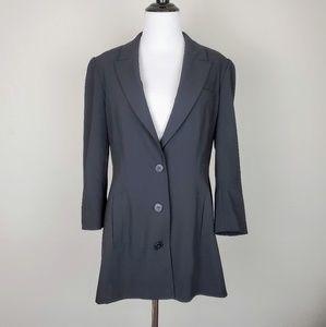 Boston Proper Andrea Behar Black Blazer Jacket